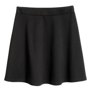 H&M Black Circle skirt in thick jersey